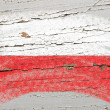 Royalty-Free Stock Photo: Flag of poland on grunge wooden texture painted with chalk