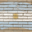 Flag of Argentina on grunge brick wall painted with chalk — Stock Photo
