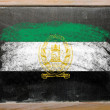Flag of Afghanistan on blackboard painted with chalk — Stok fotoğraf