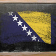 Stock Photo: Flag of bosniand herzegovinon blackboard painted with chalk