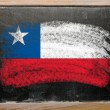 Flag of Chile on blackboard painted with chalk — Stock Photo