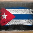 Flag of Cuba on blackboard painted with chalk — 图库照片