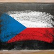 Flag of czech on blackboard painted with chalk — Stock fotografie