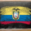 Stock Photo: Flag of Eucuador on blackboard painted with chalk