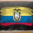 Flag of Eucuador on blackboard painted with chalk - Stok fotoğraf