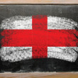 Flag of england on blackboard painted with chalk — Foto Stock
