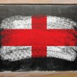 Flag of england on blackboard painted with chalk — Stock Photo #7131033