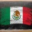 Flag of mexico on blackboard painted with chalk — Foto de Stock