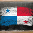 Stock Photo: Flag of panamon blackboard painted with chalk