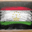 Flag of tajikistan on blackboard painted with chalk — 图库照片