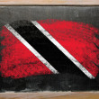 Flag of trinidad and tobago on blackboard painted with chalk — Stock Photo