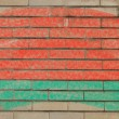Flag of belarus on grunge brick wall painted with chalk — ストック写真