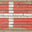 Royalty-Free Stock Photo: Flag of denmark on grunge brick wall painted with chalk