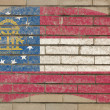 Flag of georgia on grunge brick wall painted with chalk — Стоковая фотография
