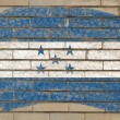 Flag of honduras on grunge brick wall painted with chalk — Foto Stock