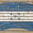 Flag of honduras on grunge brick wall painted with chalk — Stock fotografie
