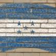 Flagge von Honduras auf Grunge-Ziegelwand mit Kreide gemalt — Stockfoto