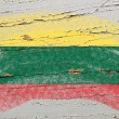 Stock Photo: Flag of lithuanion grunge wooden texture painted with chalk