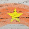Flag of vietnam on grunge wooden texture painted with chalk - Lizenzfreies Foto