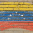 Flag of  on grunge brick wall painted with chalk — Lizenzfreies Foto