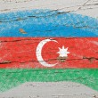 Stock Photo: Flag of azerbaijon grunge wooden texture painted with chalk