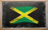 Flag of Jamaica on blackboard painted with chalk — Stock Photo