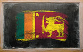Flag of srilanka on blackboard painted with chalk — Stock Photo