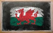 Flaga walii na tablica malowane z kredy — Zdjęcie stockowe