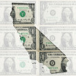Outline map of California with transparent american dollar bankn — Stock Photo