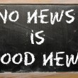 Proverb No news is good news written on a blackboard — Stock Photo