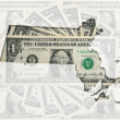 Outline map of massachusetts with transparent american dollar ba — Stock Photo #7339885