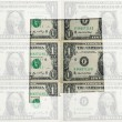 Outline map of missouri with transparent american dollar banknot — Stok fotoğraf