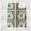 Outline map of utah with transparent american dollar banknotes i — Stock Photo