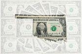 Mapa de contorno de oklahoma com transparente banknot de dólar americano — Foto Stock
