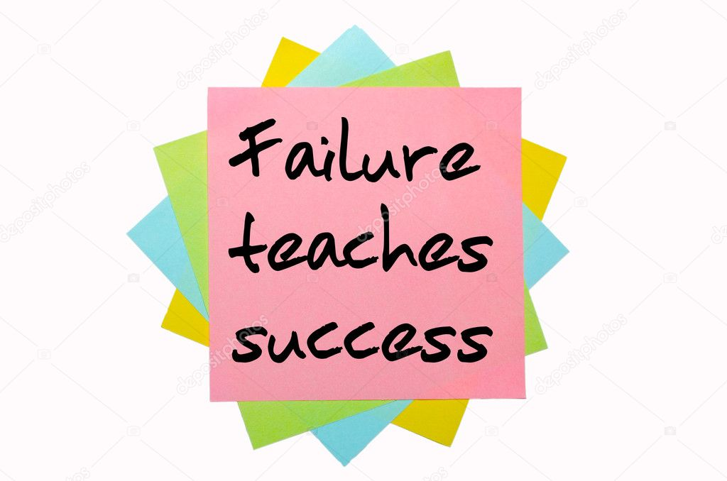 essay on failure teaches success Effective failure: teaching students the power of mistakes opportunity for learning and success in mistakes and failure where she teaches composition and.