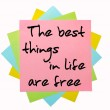 "Proverb "" The best things in life are free "" written on bunch of — Stock Photo #7559134"