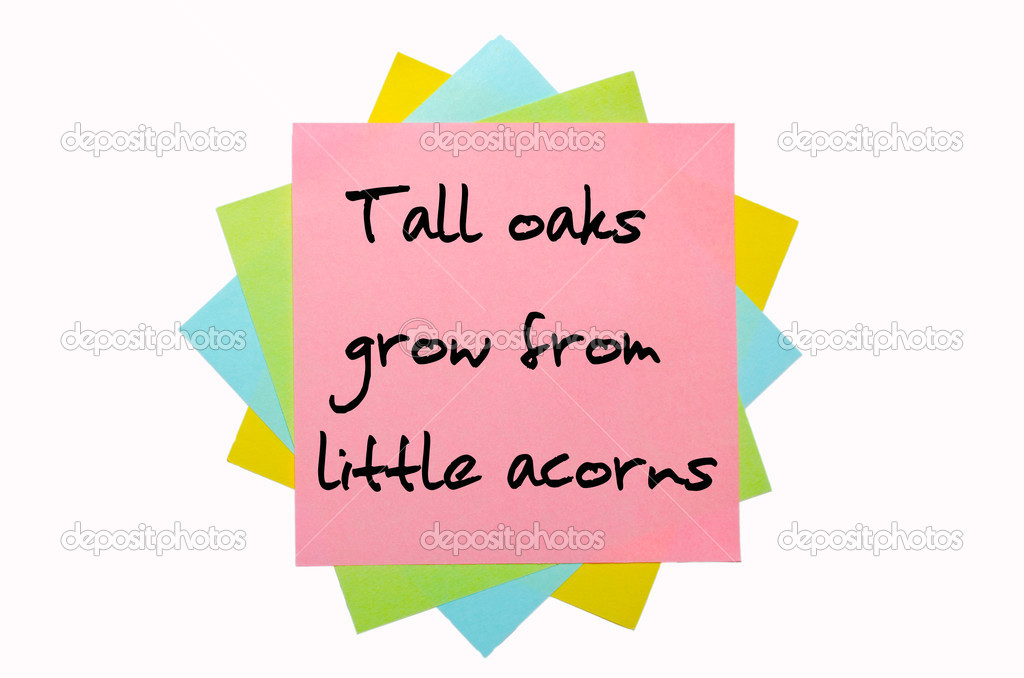 Mighty oaks from little acorns grow essay writing