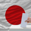 Stockfoto: Mvoting on elections in japan
