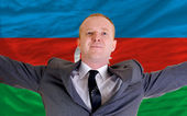Happy businessman because of profitable investment in azerbaijan — Stock Photo