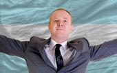 Счастливый бизнесмен из-за выгодных инвестиций в Аргентине — Стоковое фото