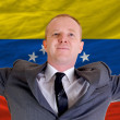 Happy businessman because of profitable investment in venezuela — Stock Photo