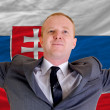 Happy businessman because of profitable investment in slovakia s — Стоковая фотография