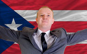 Happy businessman because of profitable investment in puertorico — Stock Photo