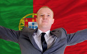 Happy businessman because of profitable investment in portugal s — Stock Photo