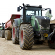 Tractor on construction site - Stock Photo