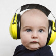 ������, ������: Baby with ear protection