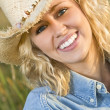 Golden Cowgirl — Stock Photo