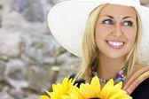 Sunflower & Smiles — Stock Photo