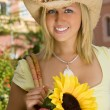 Sunflower & Style — Stock Photo #6800776