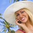 Tropical Phonecall — Stock Photo